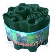 Бордюрная лента 150 мм х 9 м зеленая фото