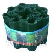 Бордюрная лента 200 мм х 9 м зеленая фото