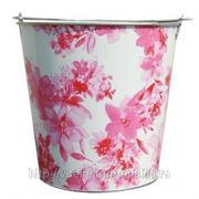 Оцинкованное ведро для непищевых продуктов на 20 литров центроинструмент цветы 1041-20-2 фото