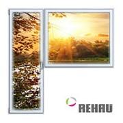 Балконный блок ПВХ Rehau 2100х2100 мм 1-Г 2 стеклопакет фото