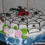 Торты детские - торт человек паук на заказ фото