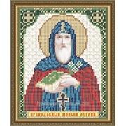 """Рисунок на ткани для вышивания бисером """"Преподобный Моисей Угрин, Печерский"""" VIA5110 фото"""