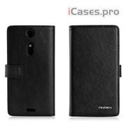 Чехол Xperia TX LT29i, NUOKU, BOOK Stylish Leather Case (black) фото