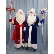 Костюм Дед Мороз (плюш, воротник шалка) фото