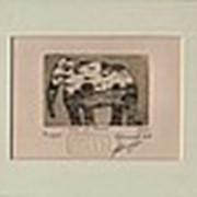 Гравюра Слон на покосе фото