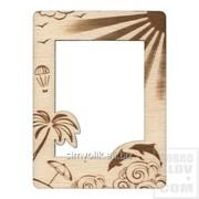 Деревянная фоторамка Пальмы, солнце, дельфины Артикул: РФСМ-029 фото