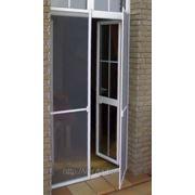 Сетка москитная на балконную дверь (белая, коричневая) фото