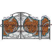 Ворота кованые с медведями фото