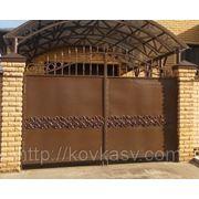 Ворота кованые в прибалтийском стиле фото