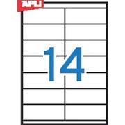 Этикетки универсальные APLI , А4, прямоугольные, белые, 105*40 мм, 1400 шт.