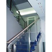 Лестницы и ограждения из стекла фото