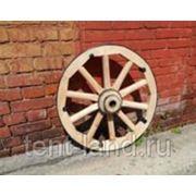 Настоящее колесо от телеги 62см фотография