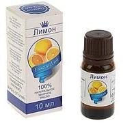 Эфирное масло лимона, флакон-капельница. фото