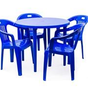 Набор пластиковой мебели Рикул + Комфорт-1, 4 шт. фото