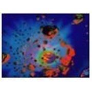 Стандартное флуоресцентное полиэстровое полотно-обои «Астероиды»