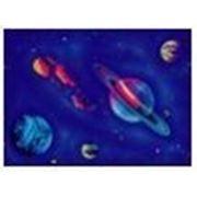 Стандартное флуоресцентное полиэстровое полотно-обои «Галактика» фото