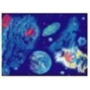 Стандартное флуоресцентное полиэстровое полотно-обои «COSMOS» фото