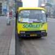Реклама на городских маршрутных такси, наружная, в салоне для пассажиров Реклама в маршрутках Киева и Украины Реклама на транспорте фото