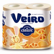 Туалетная бумага Linia Veiro Classic Жёлтая 2-сл 4рул (х12) фото