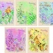 """Тетрадь 48 л. клетка """" Акварель. Цветочная поляна"""" выб.лак. тис фото"""