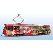 Реклама на муниципальном транспорте фото