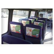 Размещение рекламы в маршрутных такси. фото