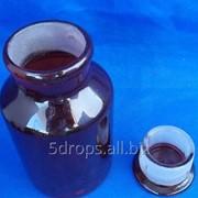 Склянка для реактивов тёмное стекло с притёртой пробкой 1000 мл (широкое горло) фото