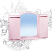 Шкафчик зеркальный Арго(белый мрамор) (1/4) фото