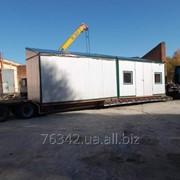 Перевозки строительных вагончиков фото
