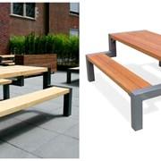 Уличные столы со скамейками фото