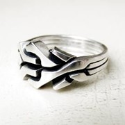 "Серебреное кольцо ""Вечный лабиринт"" от Wickerring фото"