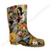 Cапоги резиновые женские ПВХ разноцветные фото