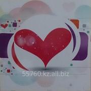 Картина стразами в 3Д Сердце 50х50 см фото