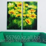 Картина по номерам Солнечная зелень фото