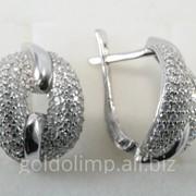 Серебряные серьги со вставками фото