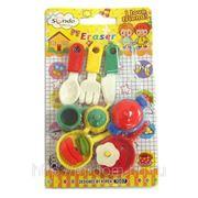 Ластики в наборе для кухни ножи, сковородки n1007 (815924) фото