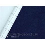 Алькантара с самоклеющейся основой Синий фото