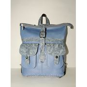 Кожаный рюкзак «Небесная лазурь» фото