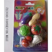 Ластики в наборе 6 овощей (848130)
