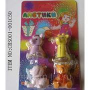 Ластики в наборе 4 животных (848128) фото