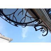 Козырьки балконные фото