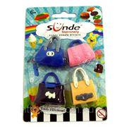 Ластики в наборе 4 сумки на блистере s001 (815918) фото