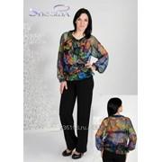 Блуза 6501-1 Перья цвет фото