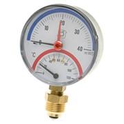 Термоманометр F+R828 80mm 0-4bar Watts 03.33.004 радиальный фото