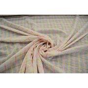Ткань сорочечная розовая полоска фото