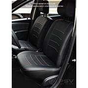 Чехлы Renault Duster/Sandero 10 чер-бел, чер-сер, черный эко-кожа Оригинал фото