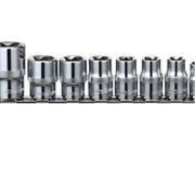 """Набор головок торцевых 1/4"""", 3/8"""", 1/2""""DR на держателе, внешний TORX®, E4-E24, 14 предметов фото"""