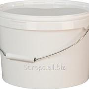 Ведро пластиковое 11 литров круглое с металлической ручкой с крышкой фото