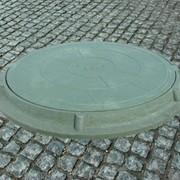 Люк канализационный полимер песчаный фото