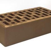 Облицовочный кирпич Braer коричневый гладкий фото